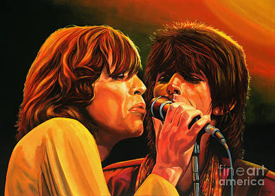 Forty Poster featuring the painting The Rolling Stones by Paul Meijering