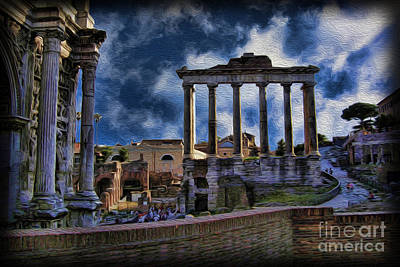 The Roman Forum Poster by Lee Dos Santos
