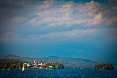 The Sagamore Hotel On Beautiful Lake George Poster by David Patterson