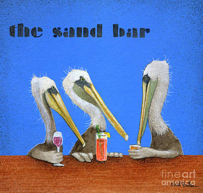The Sand Bar... Poster by Will Bullas