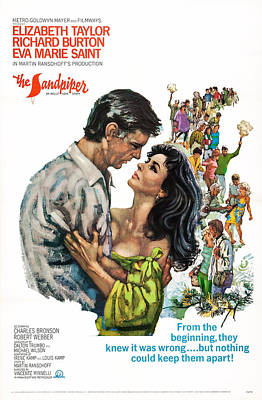 The Sandpiper, Us Poster Art, From Left Poster by Everett