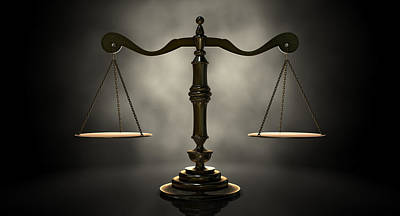 The Scales Of Justice Poster by Allan Swart