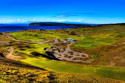 The Scenic Chambers Bay Golf Course IIi - Location Of The 2015 U.s. Open Tournament Poster by David Patterson