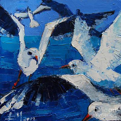 The Seagulls Poster by Mona Edulesco