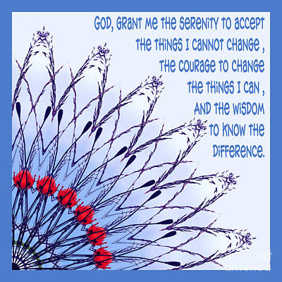 The Serenity Prayer 6 Poster by Wendy Wilton