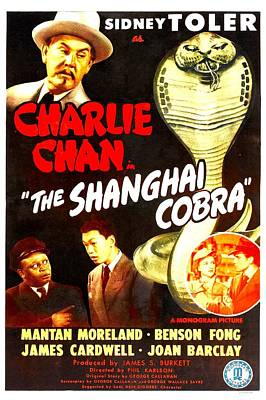 The Shanghai Cobra, Aka Charlie Chan In Poster by Everett