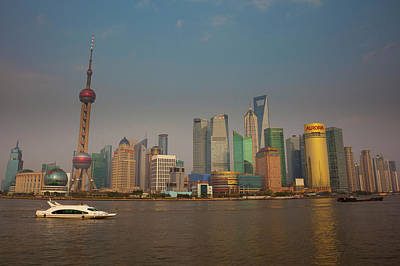 The Shanghai Pudong New Area Skyline Poster by Art Wolfe