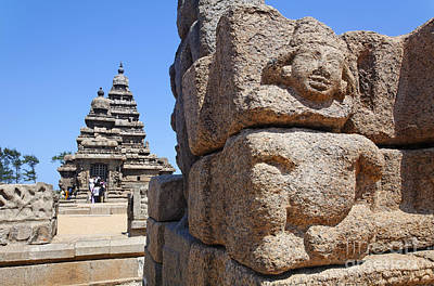 The Shore Temple At Mamallapuram In India Poster by Robert Preston