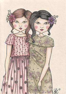 The Sisters Poster by Snezana Kragulj