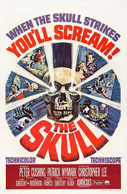 The Skull, Us Poster, Peter Cushing Top Poster by Everett