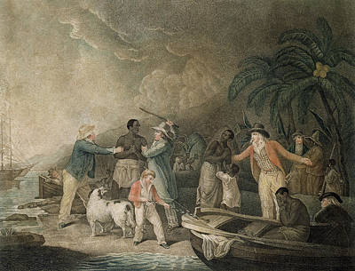 The Slave Trade, 1835 Coloured Engraving Poster by George Morland