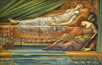 The Sleeping Princess Poster by Sir Edward Burne-Jones