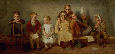 The Smile, 1842 Oil On Panel Pair Of 6132 Poster by Thomas Webster