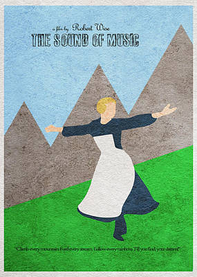 The Sound Of Music Poster by Ayse Deniz