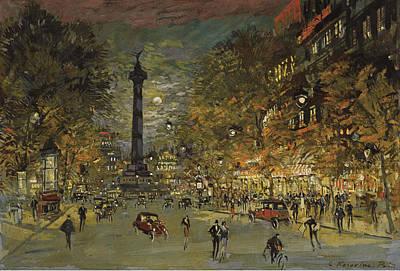 The Square Of Bastille. Paris Poster by Konstantin Korovin