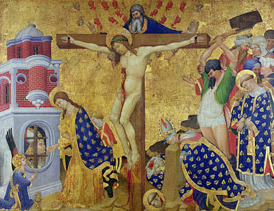 The St. Denis Altarpiece Poster by Henri Bellechose