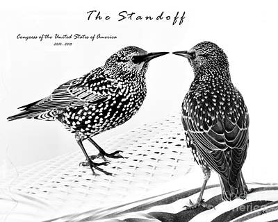 The Standoff  Congress Of The United States Of America   Poster by Gerlinde Keating - Galleria GK Keating Associates Inc