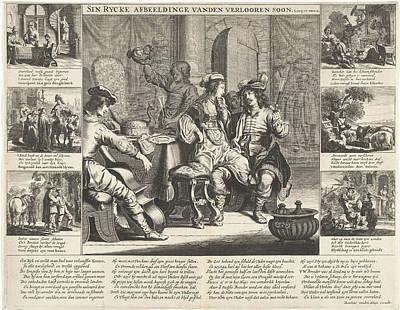 The Story Of The Prodigal Son, Cornelis Van Dalen Poster by Cornelis Van Dalen (i) And Rombout Van Den Hoeye