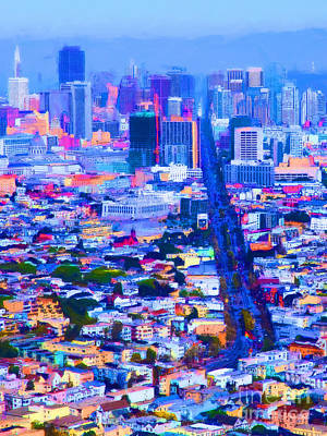 The Streets Of San Francisco 5d28040 Vertical Poster by Wingsdomain Art and Photography