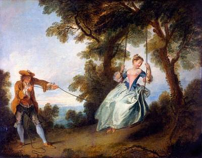 The Swing, 1730 Poster by Nicolas Lancret