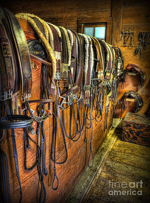 The Tack Room - Equestrian Poster by Lee Dos Santos