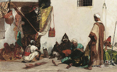The Tailors Shop Poster by Jean Joseph Benjamin Constant