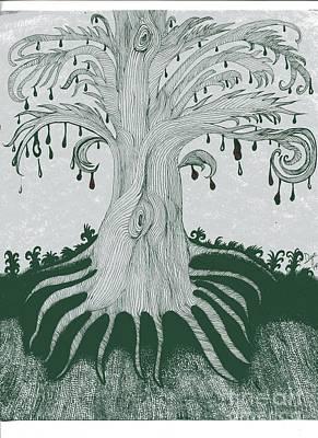 The Tearing Tree Poster by Dyana Schoenstadt