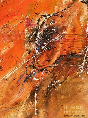 The Temptation -abstract Art Poster by Ismeta Gruenwald