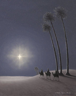 The Three Wise Men Poster by Walter Lynn Mosley