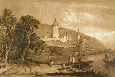 The Town Of Thun Poster by Joseph Mallord William Turner