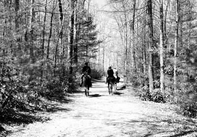 The Trail Ride Poster by Susan Leggett