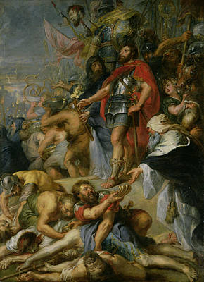The Triumph Of Judas Maccabeus Poster by Peter Paul Rubens