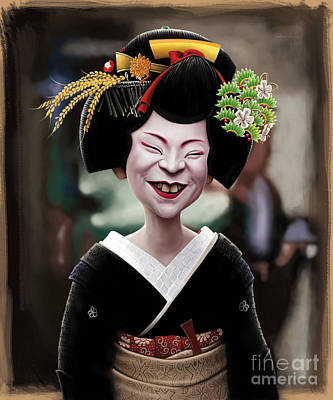 The Ugly Geisha Poster by Andre Koekemoer