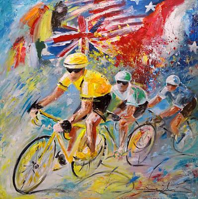 The United Colours Of The Tour De France Poster by Miki De Goodaboom