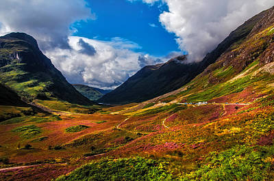 The Valley Of Three Sisters. Glencoe. Scotland Poster by Jenny Rainbow