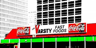 The Varsity Atlanta Pop Art Poster by Dan Sproul