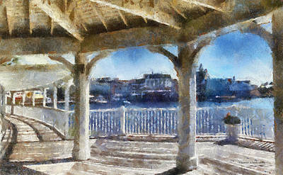 The View From The Boardwalk Gazebo Wdw 02 Photo Art Poster by Thomas Woolworth