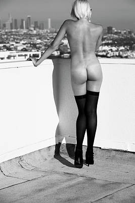 Helmut Newton Poster featuring the photograph The View by Lloyd Rosen