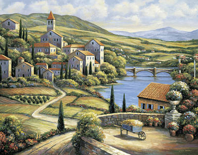 The Village Poster by John Zaccheo