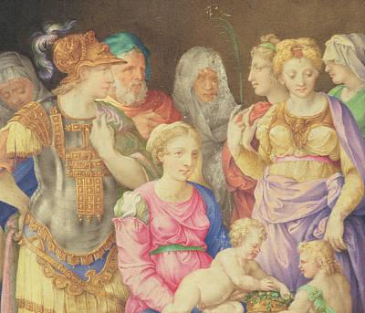 The Virgin And Child Poster by Giorgio Giulio Clovio