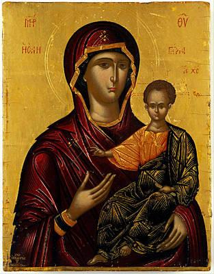 The Virgin Hodegetria Poster by Emmanuel Lambardos