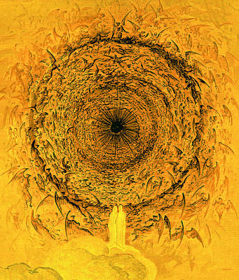 The Vision Of The Empyrean Poster by Gustave Dore