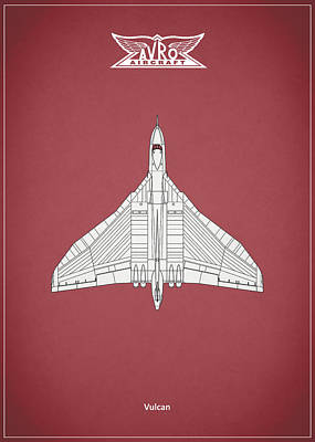The Vulcan - Red Poster by Mark Rogan
