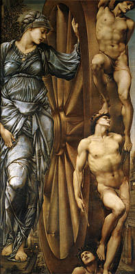 The Wheel Of Fortune Poster by Edward Burne Jones