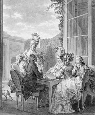 The Whist Party, 1783, Engraved By Jean Poster by Jean Michel the Younger Moreau