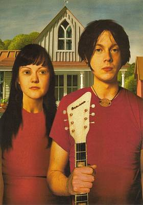 The White Stripes - American Gothic Pose Poster by Rory Cubel