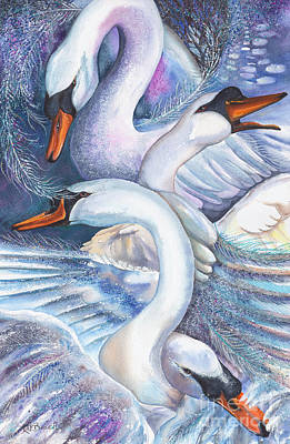 The Wild Swans Poster by Kate Bedell