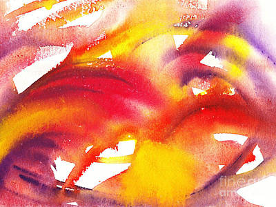 The Wings Of Light Abstract Poster by Irina Sztukowski