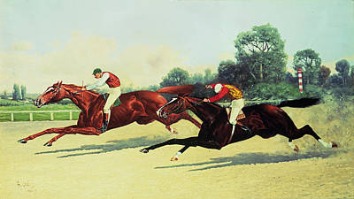 The Winning Post In Sight Poster by Henry Stull