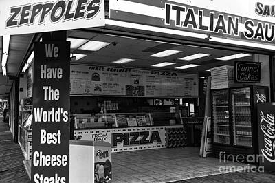 The Worlds Best Cheese Steaks Mono Poster by John Rizzuto